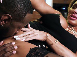 Busty Slut Loves Getting Her Tight Pussy Stretched By Big Black Cocks When Her Husband Is Watching